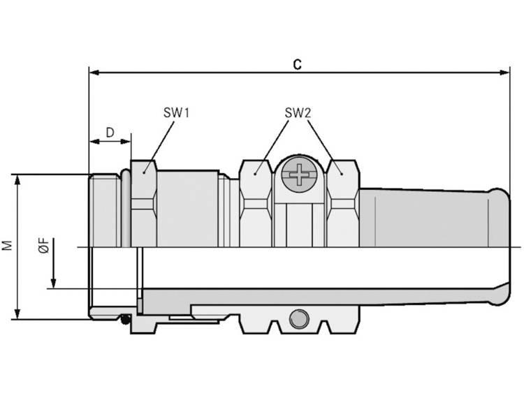 Wartel M40 Messing Messing LappKabel SKINDICHT® SR-M 40X1,5/36/30 5 stuks