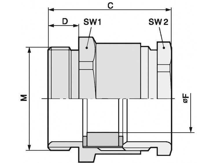 Wartel M20 Messing Messing LappKabel SKINDICHT® SVRN-M 20X1,5/16/14 50 stuks