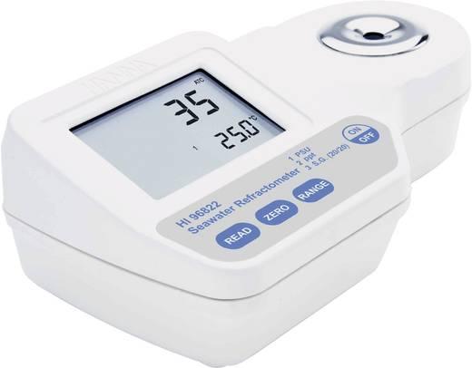Hanna Instruments HI 96822 Digitale refractometer HI 96822 1 PSU, 1 ppt, 0.001 spec. dichtheid, 0.1 °C ±2 PSU, ±2 ppt, ±0.002 spec. dichtheid, ±0.3 °C Kalibratie Zonder certificaat