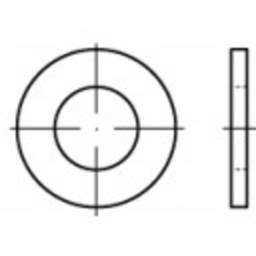TOOLCRAFT 105456 Onderlegringen Binnendiameter: 13 mm DIN 125 Staal verzinkt 100 stuks