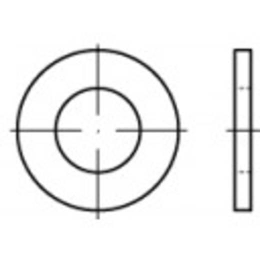 TOOLCRAFT 105505 Onderlegringen Binnendiameter: 5.3 mm DIN 125 Staal galvanisch verzinkt, geel gechromateerd 100 stu