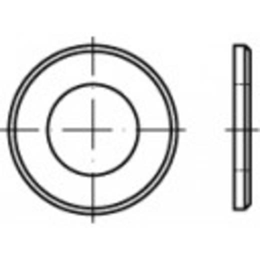 TOOLCRAFT 105519 Onderlegringen Binnendiameter: 10.5 mm DIN 125 Staal galvanisch verzinkt, geel gechromateerd 1000 s