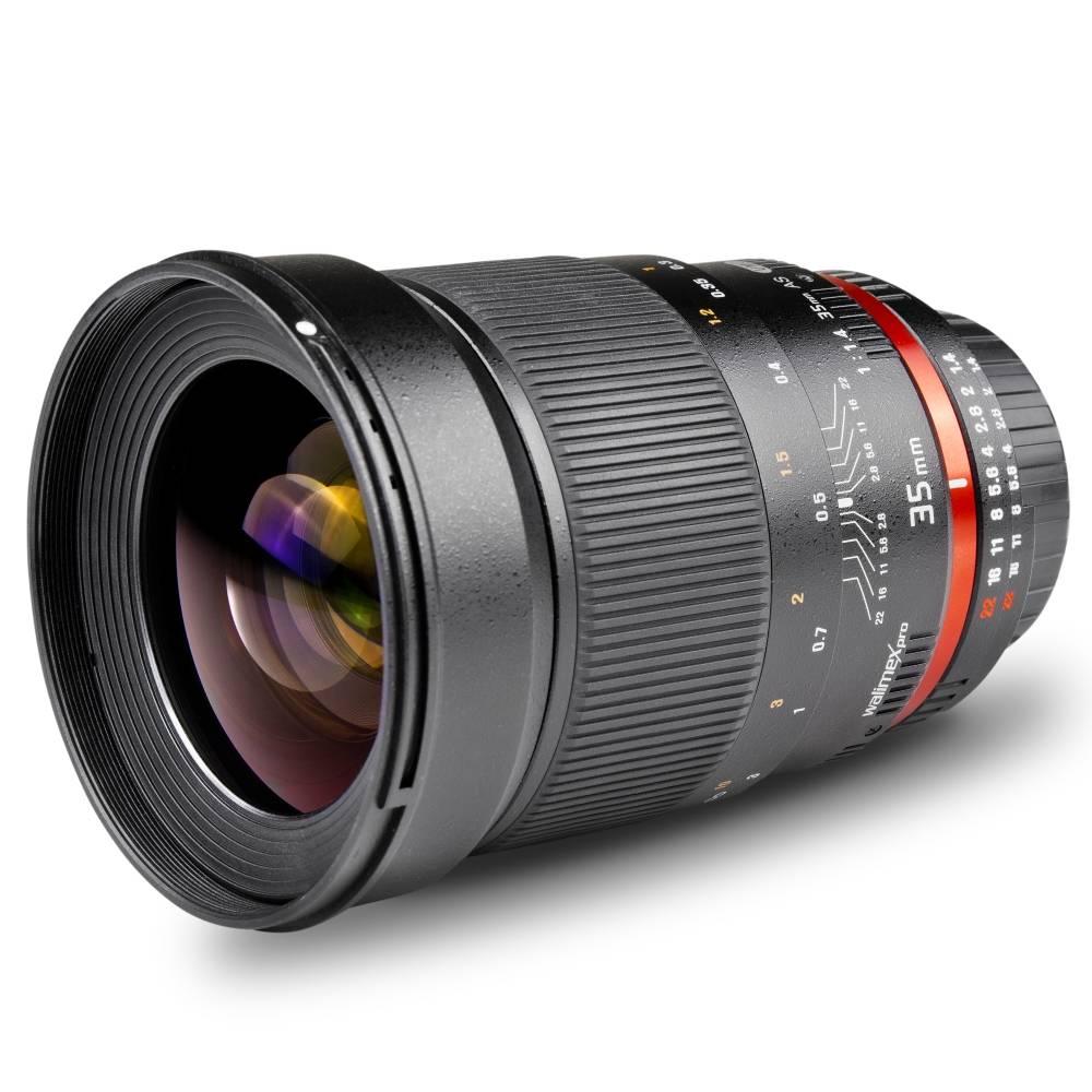 Walimex Pro 35/1,4 DSLR 16958 Vidvinkelobjektiv f/1 - 1.4 35 - 52.5 mm