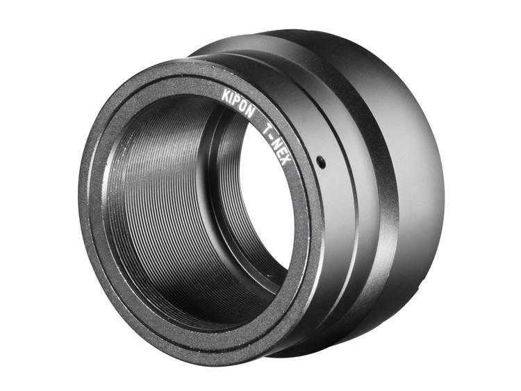 Kipon Adapter Sony E-Mount objectief aan T2 camera
