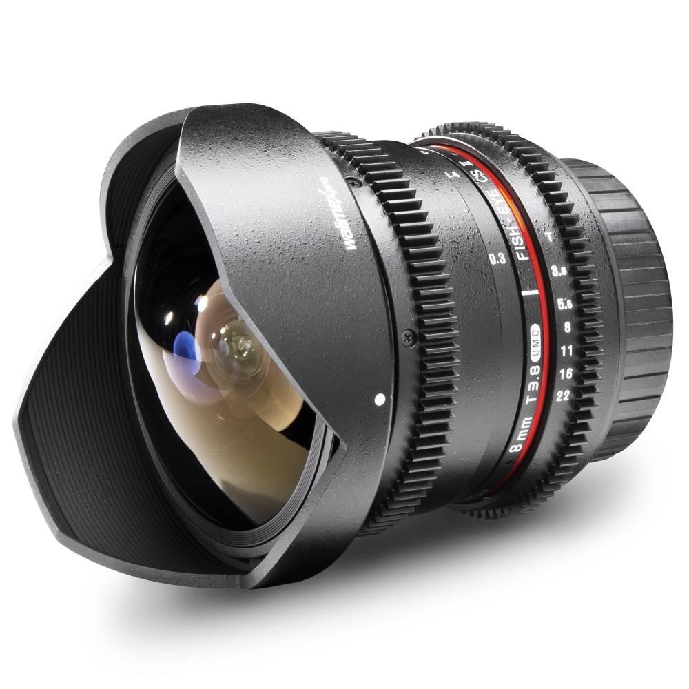 Walimex Pro 8/3,8 Fish-Eye II VDSLR 18705 Fish-Eye-objektiv f/1 - 3.8 8 mm