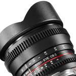 Fisheye-objectief Walimex Pro 8/3,8 Fish-Eye II VDSLR voor F-Bajonett