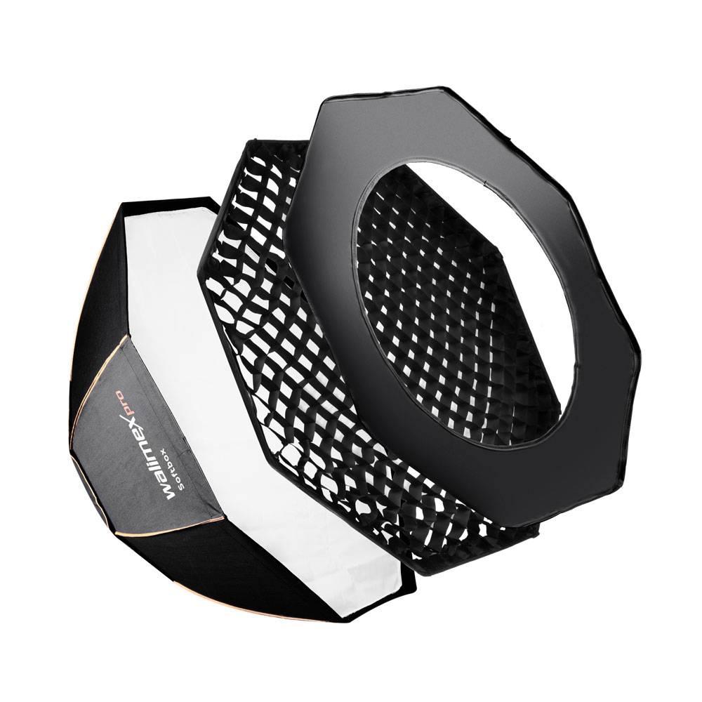 Walimex Pro Octagon PLUS Orange Line 18813 Softbox (Ø x L) 60 cm x 31.5 cm 1 st
