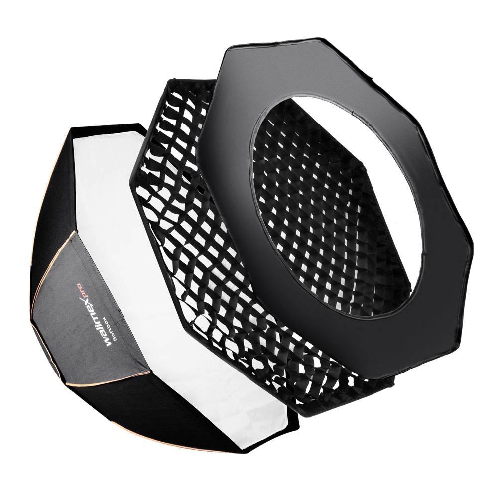 Walimex Pro Octagon PLUS Orange Line 18816 Softbox (Ø x L) 120 cm x 47.5 cm 1 st