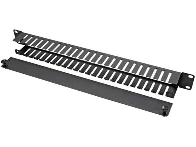 EFB Elektronik 699999TS.1 19 inch Patchkast-kabelvoering 1 HE Zwart