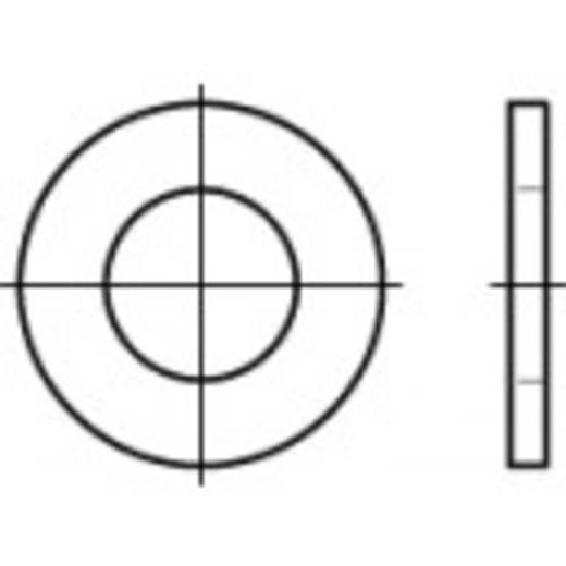 TOOLCRAFT 105542 Onderlegringen Binnendiameter: 17.5 mm DIN 126 Staal 100 stuks