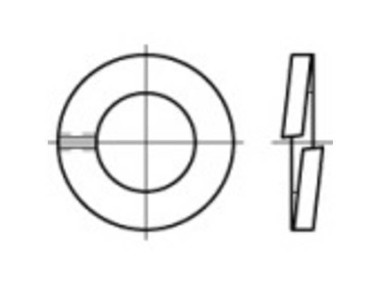 Veerringen Binnendiameter: 3.1 mm DIN 127 Verenstaal 100 stuks TOOLCRAFT 105625