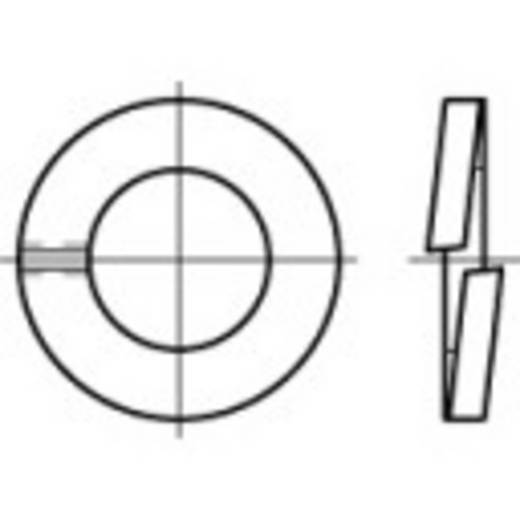 TOOLCRAFT 105737 Veerringen Binnendiameter: 22.5 mm DIN 127 Verenstaal thermisch verzinkt 100 stuks