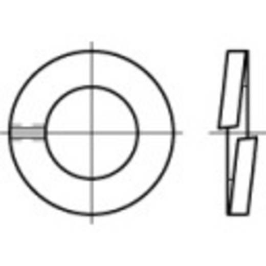 TOOLCRAFT 105779 Veerringen Binnendiameter: 8.1 mm DIN 127 Verenstaal galvanisch verzinkt, geel gechromateerd 1000 s