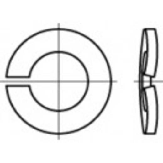 TOOLCRAFT 105861 Veerringen Binnendiameter: 4.1 mm DIN 128 Verenstaal verzinkt, geel gechromateerd 1000 stuks