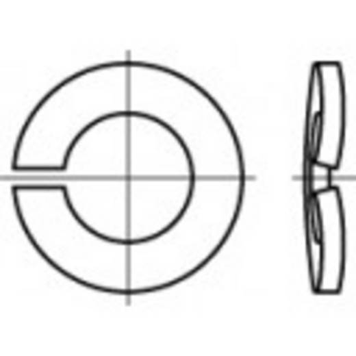 TOOLCRAFT 105865 Veerringen Binnendiameter: 6.1 mm DIN 128 Verenstaal verzinkt, geel gechromateerd 1000 stuks