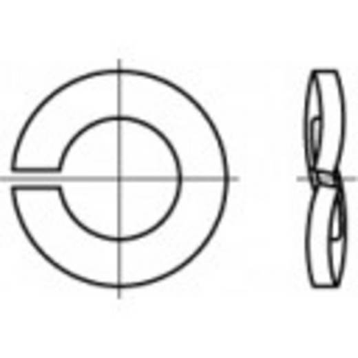TOOLCRAFT 105842 Veerringen Binnendiameter: 6.1 mm DIN 128 Verenstaal verzinkt 100 stuks