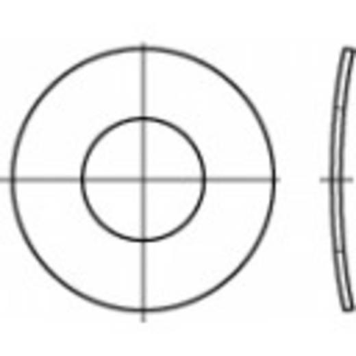 TOOLCRAFT 105921 Veerschijven Binnendiameter: 10.5 mm DIN 137 Verenstaal verzinkt 100 stuks
