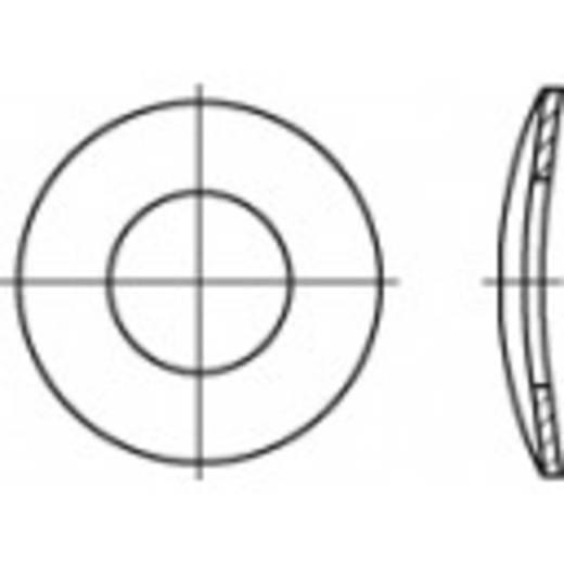 TOOLCRAFT 105892 Veerschijven Binnendiameter: 10.5 mm DIN 137 Verenstaal 100 stuks