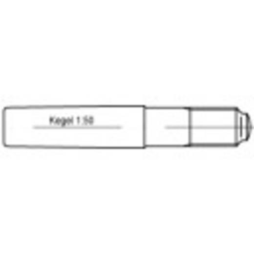 TOOLCRAFT 106171 Conische pen (Ø x l) 10 mm x 65 mm Staal 10 stuks