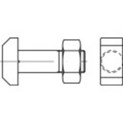 TOOLCRAFT Hamerkopbouten M12 60 mm DIN 261 Staal 10 stuks