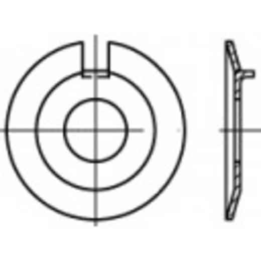 TOOLCRAFT 106636 Onderlegringen met buitenneus Binnendiameter: 8.4 mm DIN 432 Staal 100 stuks