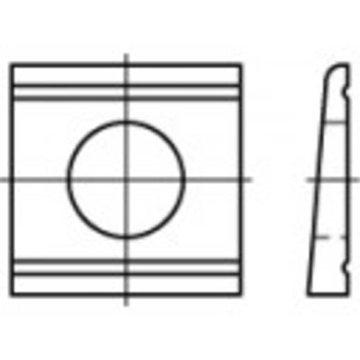 TOOLCRAFT 106726 Keilschijven DIN 434 Staal galvanisch verzinkt 100 stuks