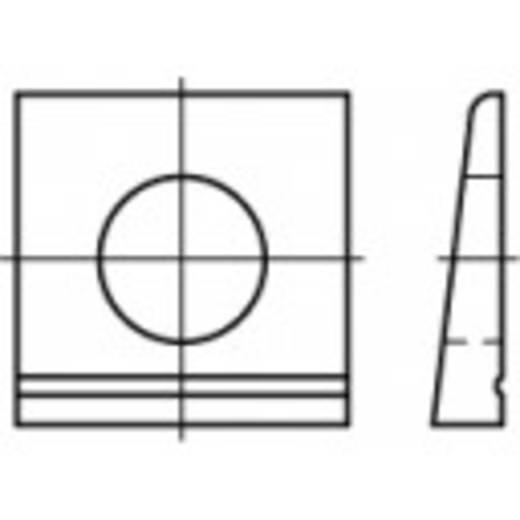 TOOLCRAFT 106752 Keilschijven DIN 435 Staal verzinkt 100 stuks