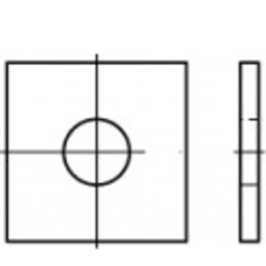TOOLCRAFT 106773 Vierkantschijven Binnendiameter: 13.5 mm DIN 436 Staal galvanisch verzinkt 100 stuks