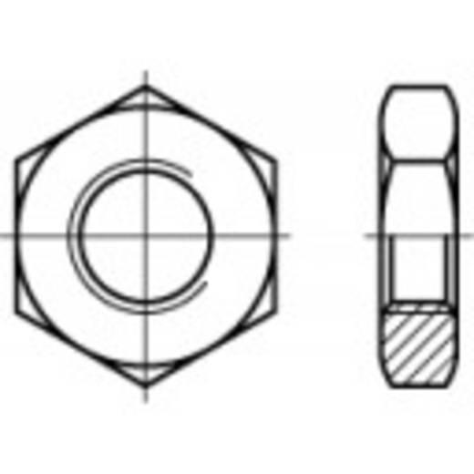 Zeskantmoeren met linkse draad M42 DIN 439 Staal galvanisch verzinkt 10 stuks TOOLCRAFT 106947