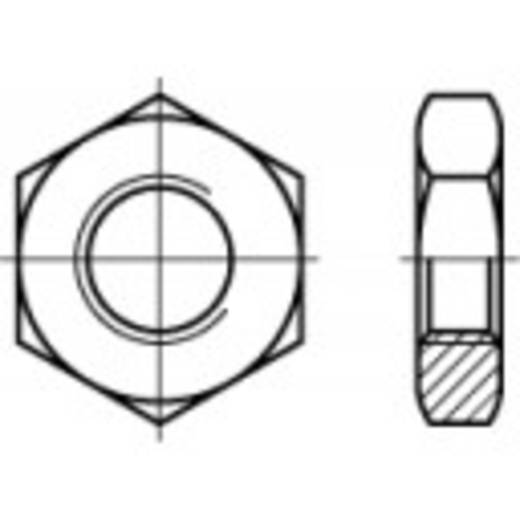 Zeskantmoeren M10 DIN 439 Staal galvanisch verzinkt 100 stuks TOOLCRAFT 106921