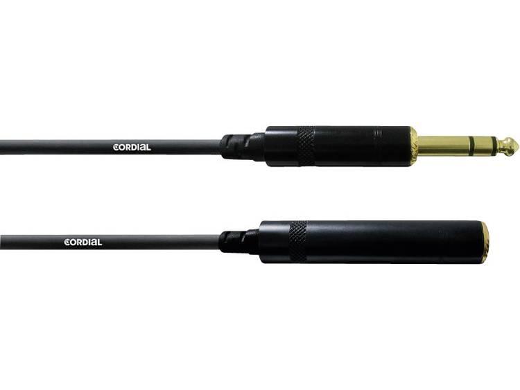 Cordial 10 m REAN jack 6.3 mm stereo adapterkabel