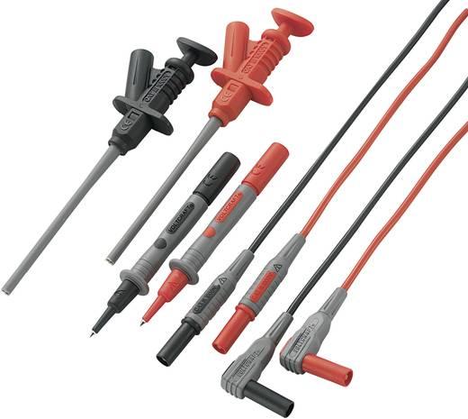Veiligheidsmeetsnoerenset VOLTCRAFT MS-6 [ Banaanstekker 4 mm - Banaanstekker 4 mm] 1.2 m Zwart, Rood