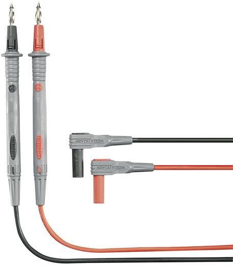 VOLTCRAFT MS-4P Veiligheidsmeetsnoerenset [ Banaanstekker 4 mm - Testpunt] 1.20 m Zwart, Rood