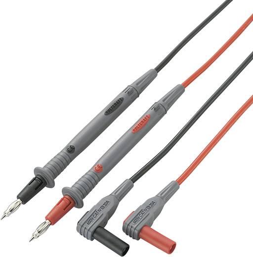 Veiligheidsmeetsnoerenset VOLTCRAFT MS-4P [ Banaanstekker 4 mm - Testpunt] 1.2 m Zwart, Rood