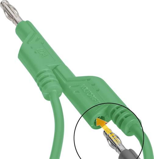 VOLTCRAFT Meetsnoer [ Banaanstekker 4 mm - Banaanstekker 4 mm] 1 m Groen