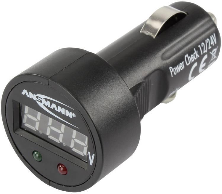 Ansmann PowerCheck12 24V-bl Accuspanningsmeter 24 V. 12 V