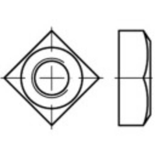 Vierkantmoeren M8 DIN 557 Staal galvanisch verzinkt 100 stuks TOOLCRAFT 108675