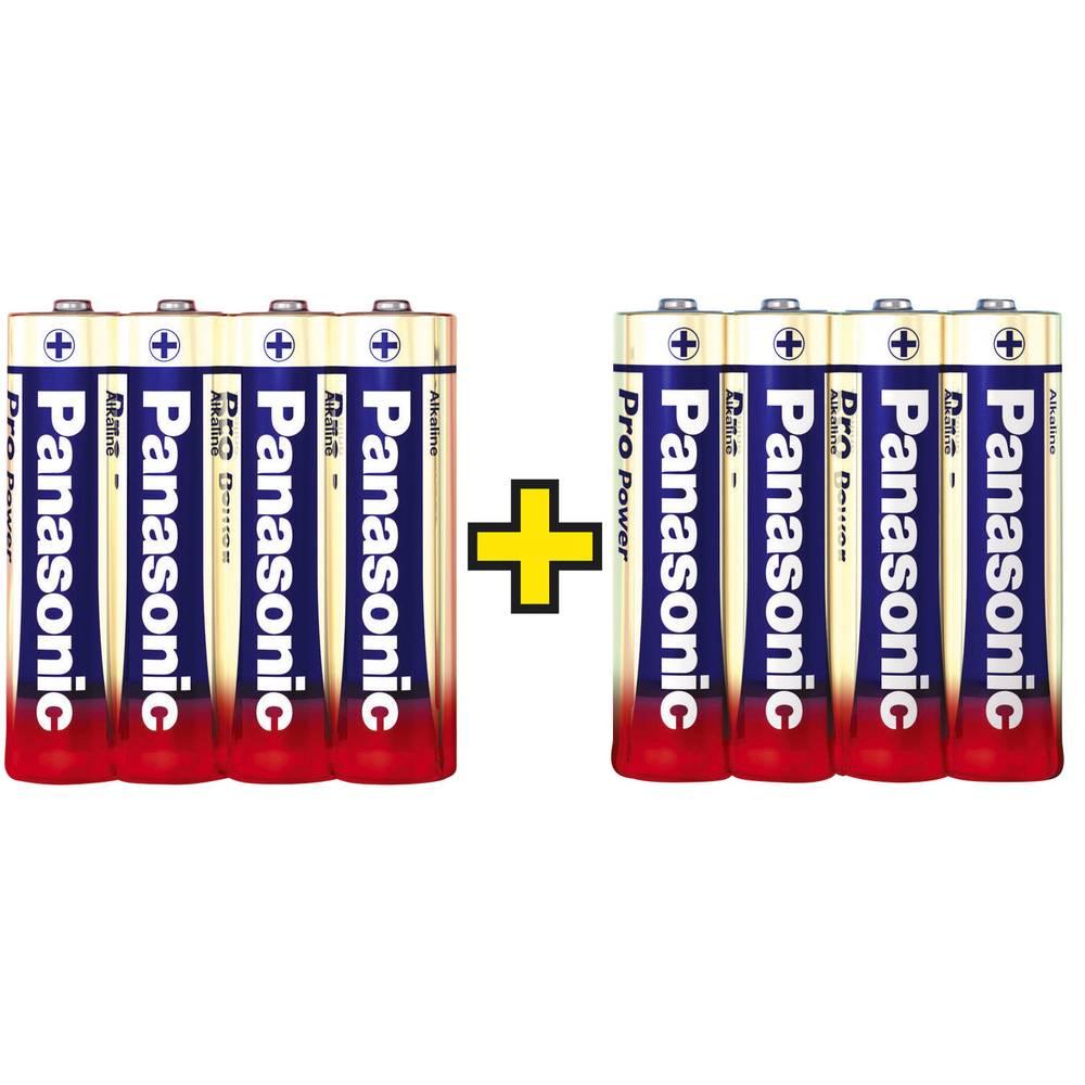 Panasonic Pro Power 4+4 gratuites Batteri AA (R6) Alkaliskt 1.5 V 8 st