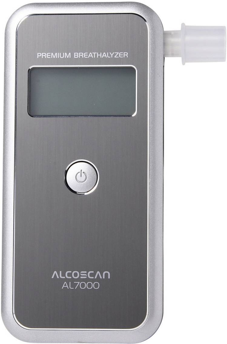 ACE AL7000 Alcoholtester Zilver 0 tot 4 ‰ Verwisselbare sensor. Incl. display