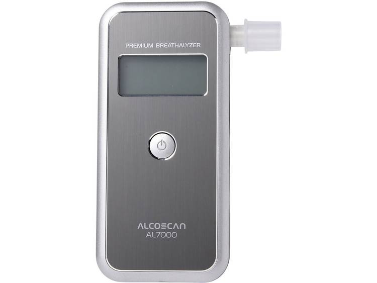 ACE AL7000 Alcoholtester Zilver 0 tot 4 ‰ Verwisselbare sensor, Incl. display