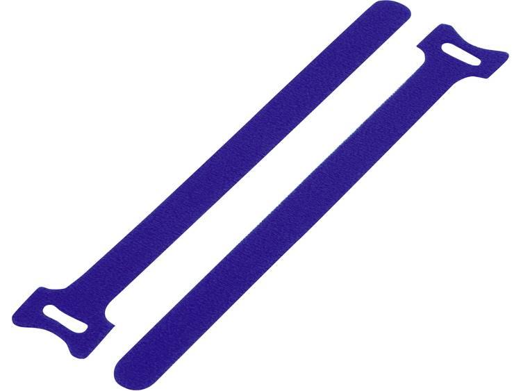 TRU COMPONENTS Klittenband kabelbinders om te bundelen Haak- en lusdeel (l x b) 210 mm x 16 mm Blauw 1 stuks