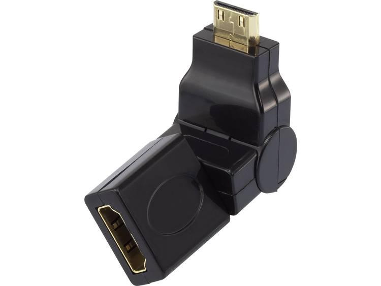 SpeaKa Professional HDMI Adapter [1x HDMI-stekker C mini <=> 1x HDMI-bus] Zwart