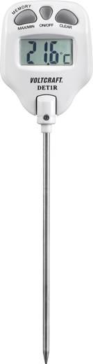 Insteekthermometer VOLTCRAFT DET1R Meetbereik temperatuur -10 tot 200 °C Sensortype K