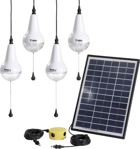 Sundaya Ulitium 200 Lightkit 4 303208 Solarset Met 4 lampen, Incl. aansluitkabel Vermogen 12 Wp
