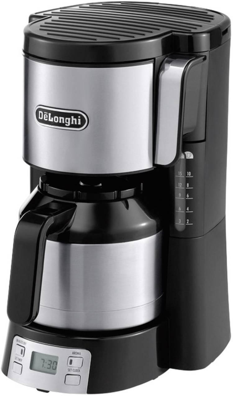 Image of Koffiezetapparaat DeLonghi Zwart/zilver Capaciteit koppen=10 Thermoskan, Timerfunctie