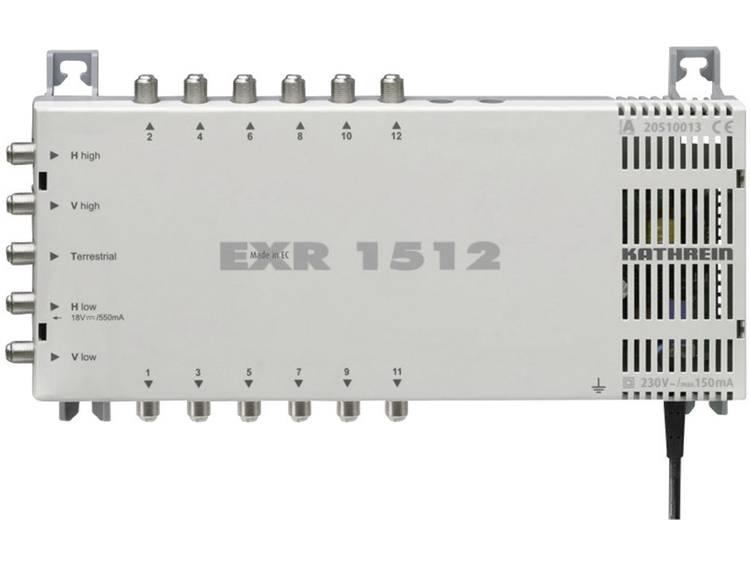 Kathrein EXR 1512 Satelliet multiswitch Ingangen (satelliet): 5 (4 satelliet / 1 terrestrisch) Aantal gebruikers: 12