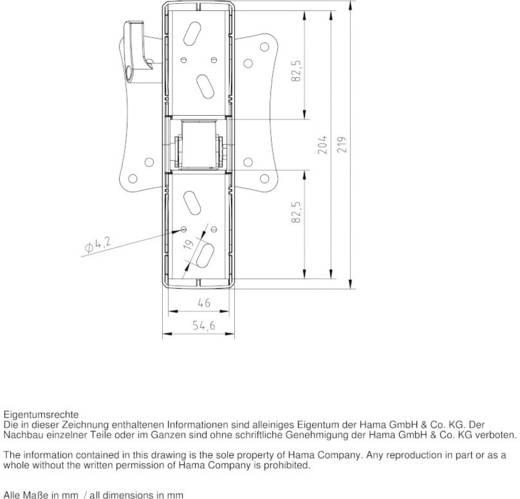 """Hama FULLMOTION TV-beugel 25,4 cm (10"""") - 66,0 cm (26"""") Kantelbaar en zwenkbaar, Roteerbaar"""