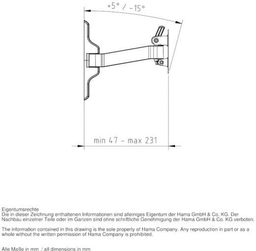 "Hama Fullmotion Ultraslim XS 1 arm TV-beugel 25,4 cm (10"") - 66,0 cm (26"") Kantelbaar en zwenkbaar, Roteerbaar"