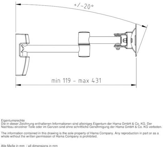 """TV-beugel Hama FULLMOTION """"Ultraslim"""" 25,4 cm (10"""") - 81,3 cm (32"""") Kantelbaar en zwenkbaar"""