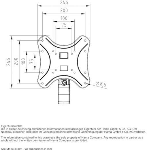 """Hama Fullmotion TV-beugel 25,4 cm (10"""") - 116,8 cm (46"""") Kantelbaar en zwenkbaar, Roteerbaar"""